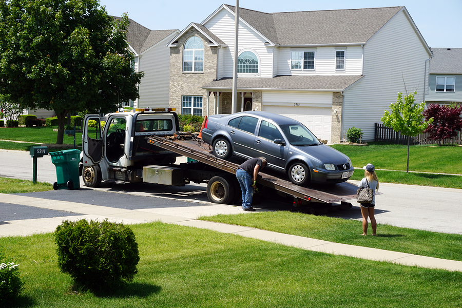 This is a picture of a denton tow truck services.